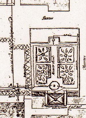 Plano del Cuarto Real de Santo Domingo del año 1843