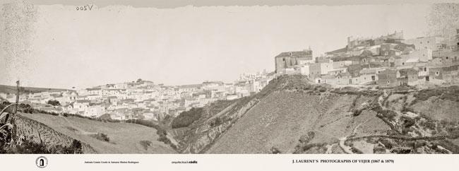 J. Laurent: Vista general de Vejer [desde San Miguel] (Archivo Ruiz Vernacci)