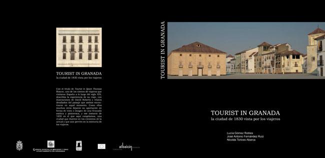 "Cubierta de ""Tourist in Granada"", de L. Gómez Robles, J.A. Fernández Ruiz y N. Torices Abarca"