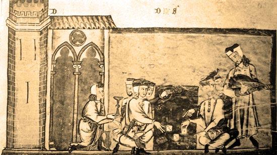 Torre almohade sevillana en el Libro del Ajedrez