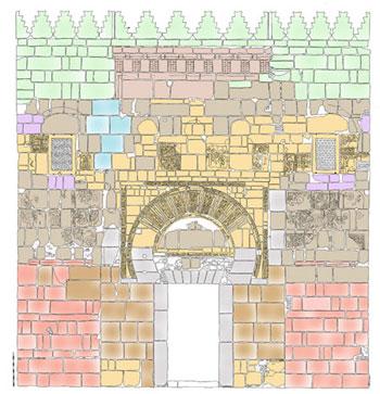 Puerta de los Visires [Dibujo: Pedro Marfil]