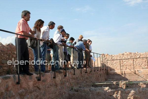 Visita intervención arqueológica en la alcazaba islámica de Onda. Foto: Elperiodic.com
