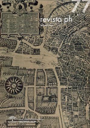 Portada de la revista PH nº77, que reproduce parte de la Plataforma de Granada de Ambrosio de Vico, h. 1612-14 (Col. particular D. Eduardo Páez López)