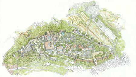 La Alhambra, acuarela del profesor Carlos Quintanilla Moreu