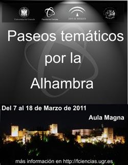 Paseos temáticos por la Alhambra