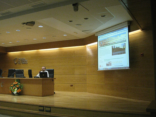 Presentación de www.laac.es en GrinUGR [Foto: Esteban Romero Frías]