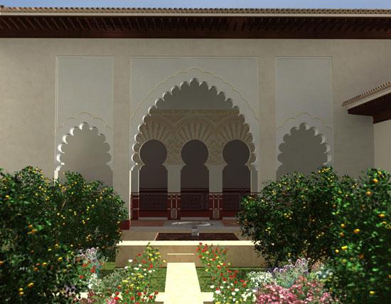 Palacio de Onda, reconstrucción virtual de Fidel Garrido