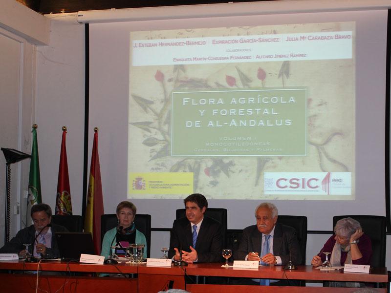 """Acto de presentación del libro """"Flora agrícola y forestal de al-Andalus"""""""