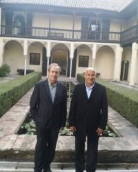 El Dr. Abdulaziz Othman Altwaijri, Director General de la ISESCO y el Dr. Antonio Orihuela, director de la EEA