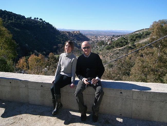 Nasser Rabbat y Cristina Parreño en el Monasterio del Sacromonte