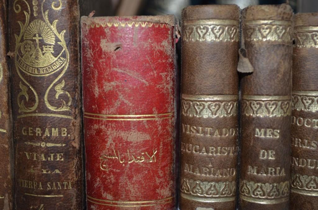 imagen libros antiguos biblioteca