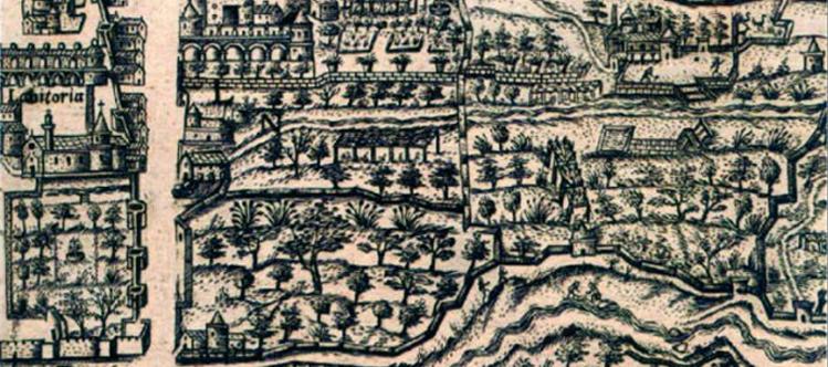 Grabado de la ciudad de Granada del siglo XVI