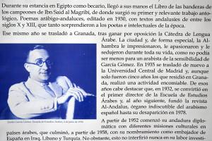 Homenaje de la Universidad de Granada al arabista García Gómez