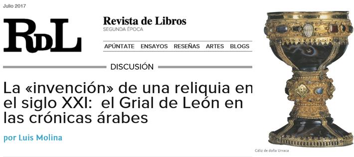 """El Dr. Luis Molina (EEA-CSIC) publica un nuevo trabajo en """"Revista de Libros"""""""