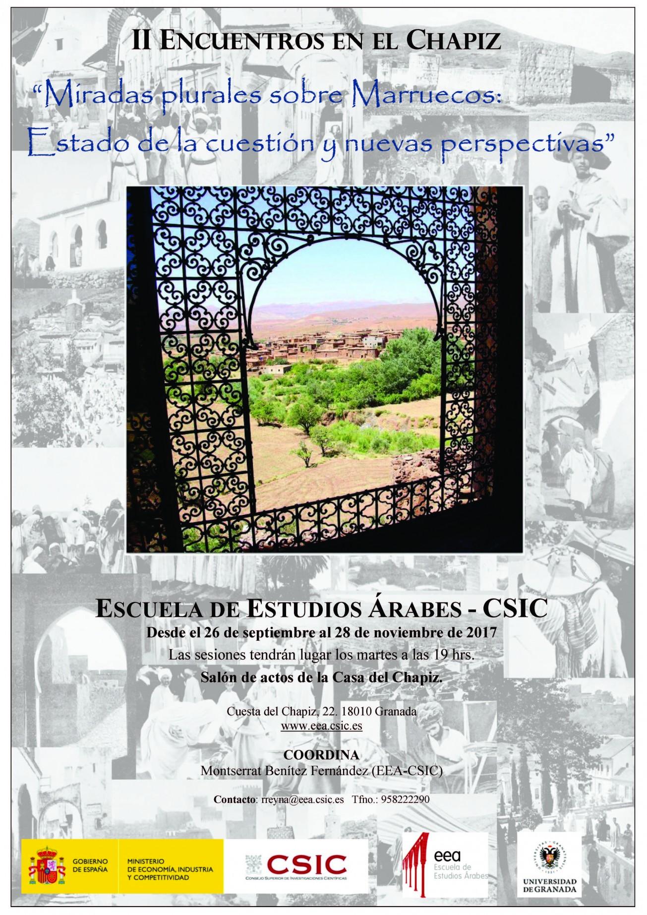 """II Encuentros en el Chapiz """"Miradas plurales sobre Marruecos : estado de la cuestión y nuevas perspectivas"""""""