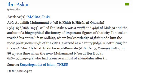 Biografía de Ibn `Askar