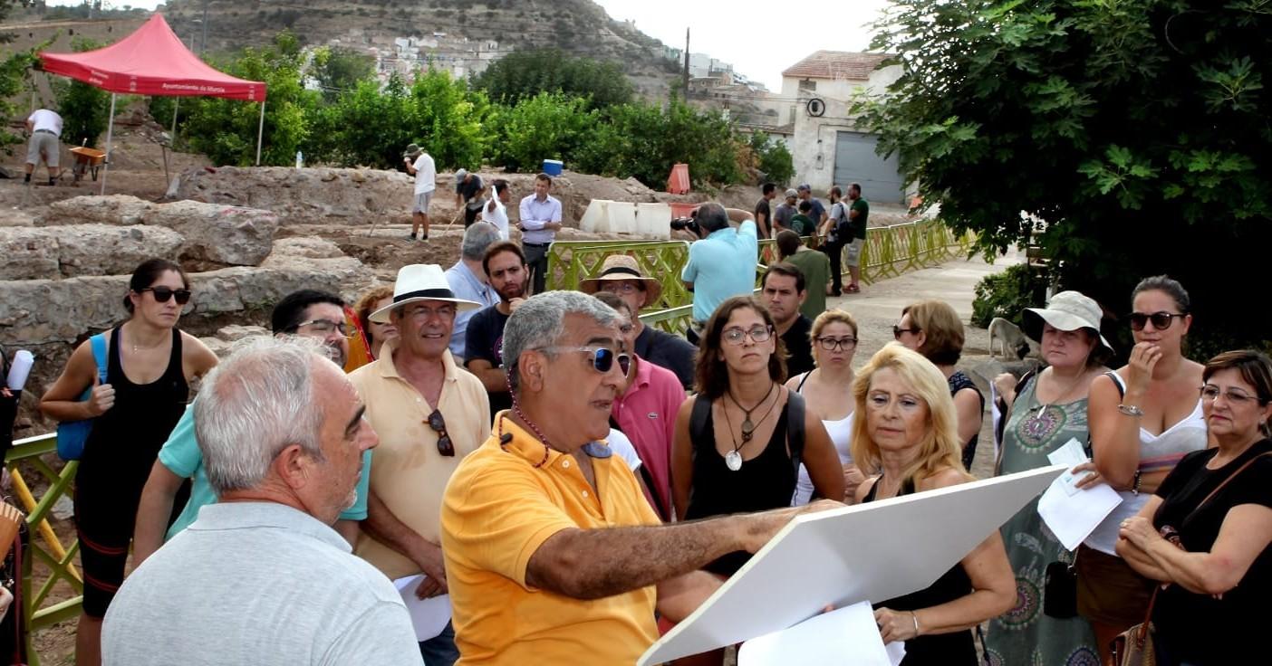 El Dr. Julio Navarro y las excavaciones arqueológicas en Monteagudo en los medios de comunicación de Murcia