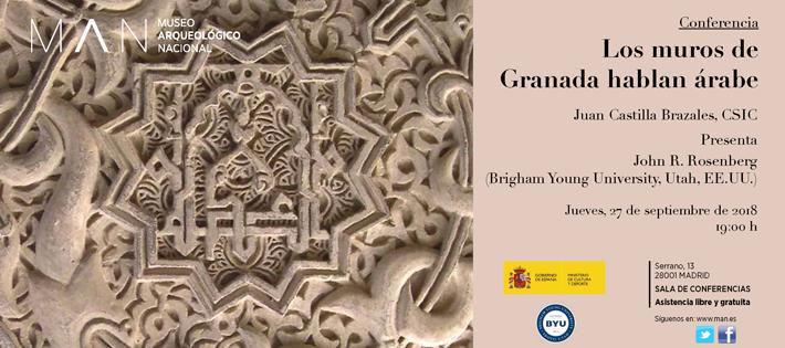 Conferencia: Los muros de Granada hablan árabe