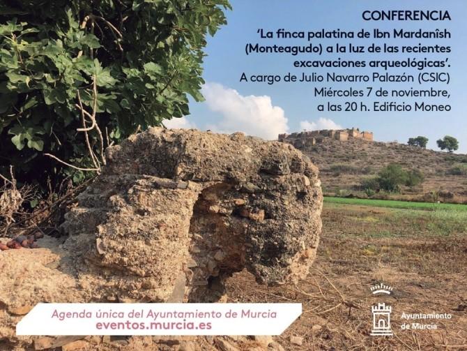 """Conferencia del Dr. Julio Navarro, miembro del LAAC (EEA, CSIC) sobre """"La finca palatina de Ibn Mardanish (Monteagudo) a la luz de las recientes excavaciones arqueológicas"""""""