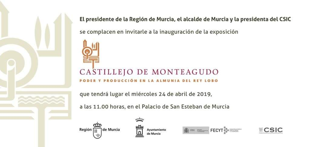 """Inauguración de la exposición: """"Castillejo de Monteagudo: poder y producción en la almunia del Rey Lobo"""""""
