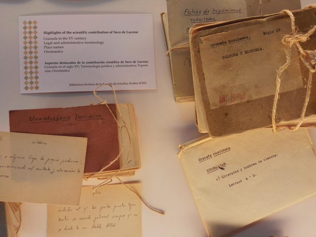 Se inaugura la exposición: «El legado documental científico de Seco de Lucena en la EEA»
