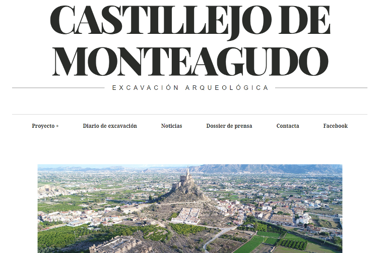 Las excavaciones de la almunia del Castillejo de Monteagudo en los medios de comunicación