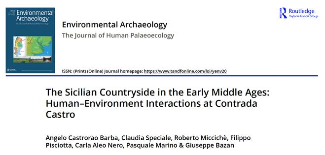 Nueva publicación de Angelo Castrorao (EEA, CSIC) en open-access en la revista 'Environmental Archaeology' (Q1, 1.475 (2019) Impact Factor)