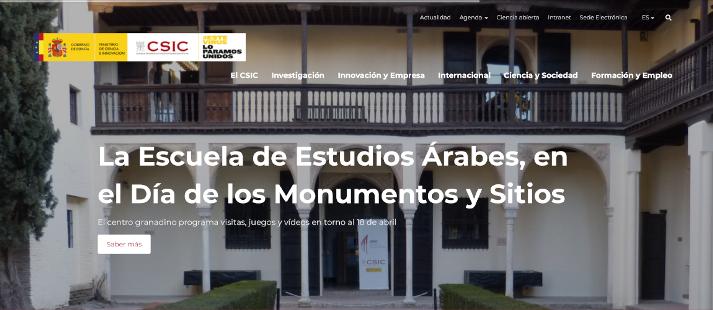 Repercusión mediática y social del evento Día Internacional de los Monumentos y Sitios en la Escuela de Estudios Árabes (EEA)